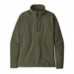 See M's Better Sweater 1/4 Zip in Industrial Green