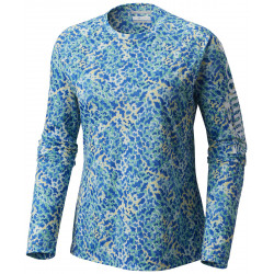 See Super Tidal Tee Long Sleeve Ws in Blue Macaw Cora