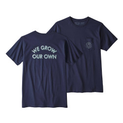See Grow Our Own Organic Pocket T in CNY Blue