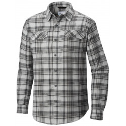 See Flare Gun Flannel III Long Sleeve Shirt M in Soft Metal Smal