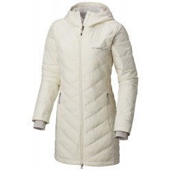 See Heavenly Long Hooded Jacket W in Light Bisque