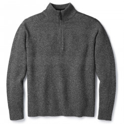 See Ripple Ridge Half Zip Sweater M in Light Gray Heat