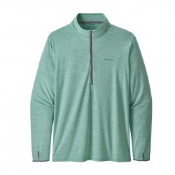See Tropic Comfort 1/4 Zip Ms in Vjosa Green