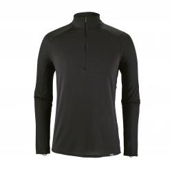 See M's Cap TW Zip Neck in Black