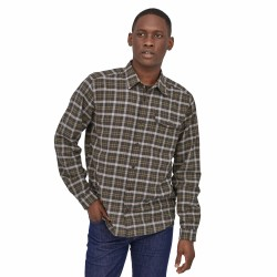 See M's LW Fjord Flannel Shirt in Instinct: Forge Grey