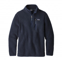 See Retro Pile Qtr Zip Boys in NVYB Blue