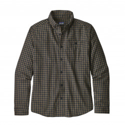 See Vjosa River Pima Shirt LS Ms in ENBL Black