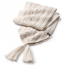 See Bunny Slope Scarf in Moonbeam Heathe