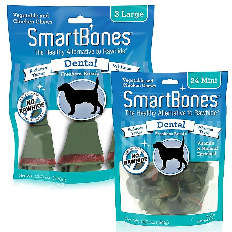 SmartBones Vegetable and Chicken Bones Dental Chews