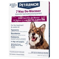 PetArmor 7 Way De-Wormer for Medium to Large Dogs (25.1-200 Pounds) Image