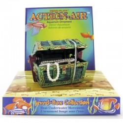 Penn Plax Action-Air Mini Treasure Chest Aerating Aquarium Ornament Image