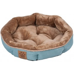 Precision Pet Round Shearling Bed Teal Image