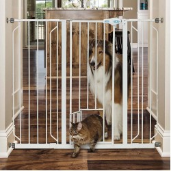 Carlson Pet Extra Tall Walk Thru Gate With Slide Handle Image