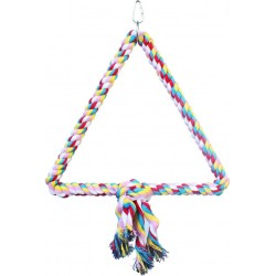 AE Cage Company Happy Beaks Trianlge Cotton Rope Swing  Image