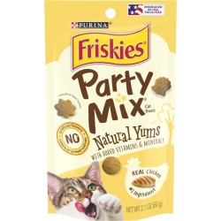 Friskies Party Mix Cat Treats Natural Yums with Real Chicken Image