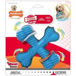 Nylabone Power Chew Comfor Hold X Bone Durable Dog Toy Beef Flavor Giant Image