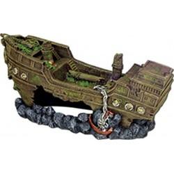 Blue Ribbon Pet Product Shipwreck Aquarium Ornament Image