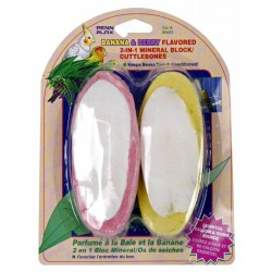 Penn Plax Banana & Berry Flavored 2-in-1 Mineral Block / Cuttlebone Image