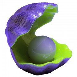 Glofish Color Changing Clam Ornament Image