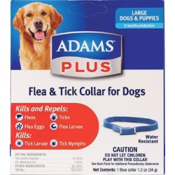 Adams Plus Flea & Tick Collar for Dogs and Puppies Blue Large Image