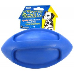 JW Pet iSqueak Funble Football Rubber Dog Toy - (Colors Vary) Image