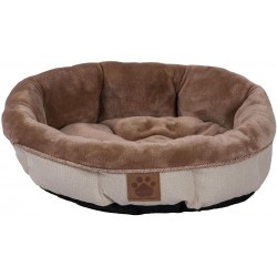 Precision Pet Round Shearling Bed Buff Image