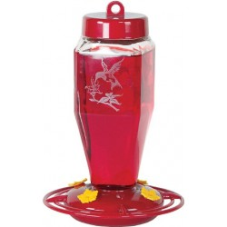 Homestead Etched Hardened Glass Hummingbird Feeder Image