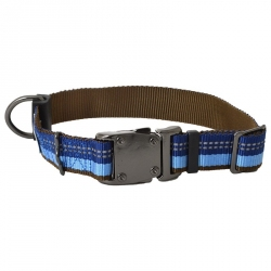 K9 Explorer Reflective Adjustable Dog Collar - Sapphire Image