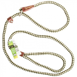 Remington Braided Rope Slip Lead Leash - Green & White Image