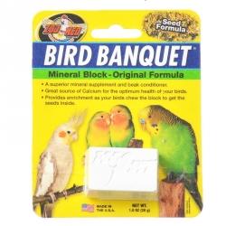 Zoo Med Bird Banquet Mineral Block - Original Seed Formula Image