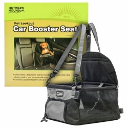 Outward Hound Pet Lookout Car Booster Seat - Black / Gray Image