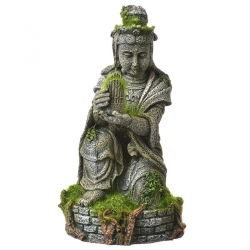 Exotic Environments Ancient Buddha Statue with Moss Ornament Image