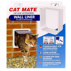 Cat Mate Cat Flap Wall Liner - White Image
