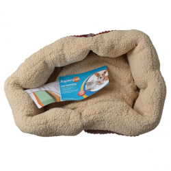 Aspen Pet Self Warming Pet Bed - Spice & Cream Image
