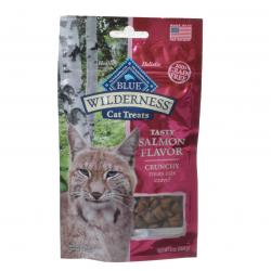 Blue Buffalo Wilderness Crunchy Cat Treats Tasty Salmon Flavor Image
