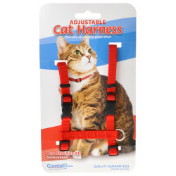 Tuff Collar Adjustable Cat Harness - Red Image