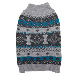 Fashion Pet Nordic Knit Dog Sweater - Gray Image