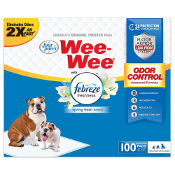 Four Paws Wee-Wee Odor Control Pads with Febreze Freshness Image