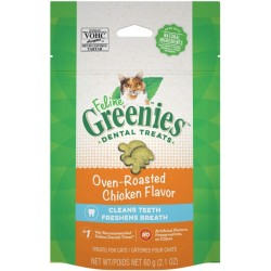 Greenies Greenies Feline Natural Dental Treats Oven Roasted Chicken Flavor Image
