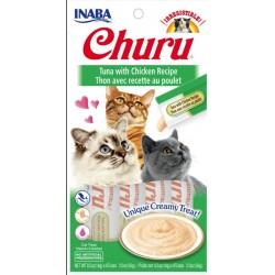 Inaba Churu Tuna with Chicken Recipe Creamy Cat Treat Image