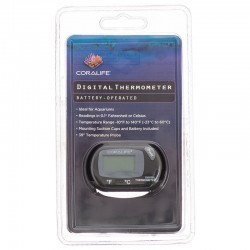 Coralife Battery-Operated Digital Thermometer for Aquariums & Terrariums Image
