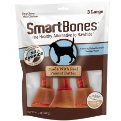 SmartBones Large Chicken and Peanut Butter Bones Rawhide Free Dog Chew Image
