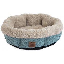 Precision Pet Snoozzy Mod Chic 12 Inch Round Pet Bed Teal Image