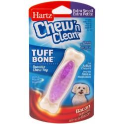 Hartz Chew N Clean Tuff Bone Dental Dog Toy - Bacon Scented Image