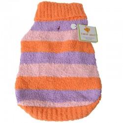Lookin Good Striped Dog Sweater - Orange Image