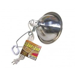 Zoo Med Economy Chrome Clamp Lamp with 8.5 Inch Dome Image