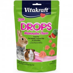 Vitakraft Star Drops Watermelon Flavor Treat for Rabbits, Guinea Pigs and Chinchillas Image