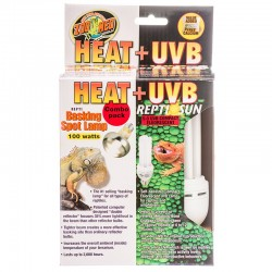 Zoo Med Heat + UVB Combo Pack - Heat Lamp & ReptiSun 5.0 UVB Lamp Image