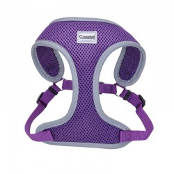 Coastal Pet Comfort Soft Reflective Wrap Adjustable Dog Harness - Purple Image