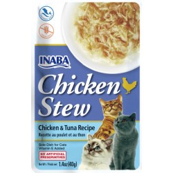 Inaba Chicken Stew Chicken with Tuna Recipe Side Dish for Cats Image